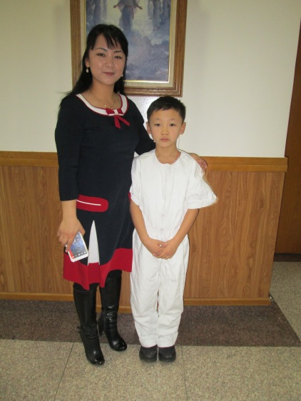 Seegii and her son on happy day.