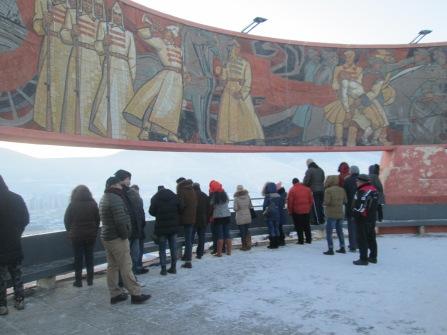 Ziasan--old Russian Memorial...